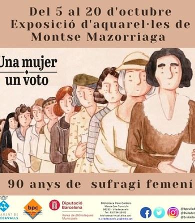 """Exposició aquarel·les """"Una mujer, un voto"""""""