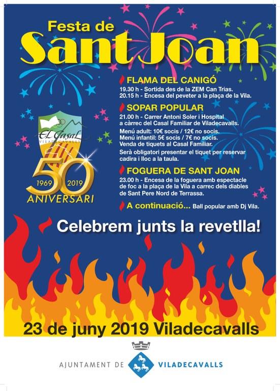 Cartell de la Festa de Sant Joan a Viladecavalls