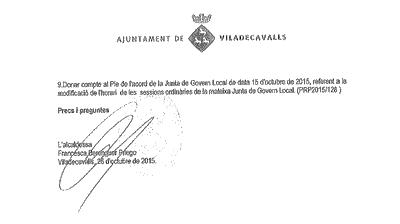 Odr del dia Ple 29 oct 2015
