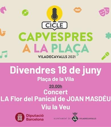 Concert de Joan Masdéu al cicle Capvespres a la plaça