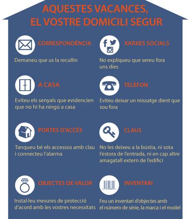 Consells de seguretat per un domicili segur durant les vacances