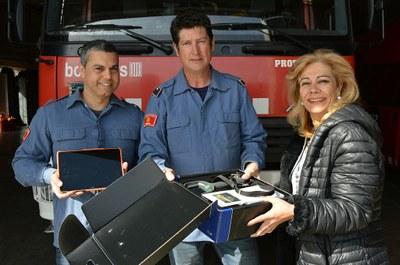 Lliiurament càmera tèrmica als Bombers Voluntaris de Viladecavalls