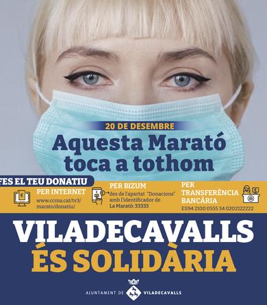 Crida a la col·laboració ciutadana per La Marató 2020