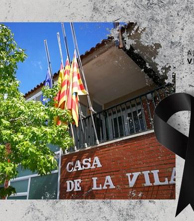 Dol a l'Ajuntament de Viladecavalls i minut de silenci per les víctimes del COVID19