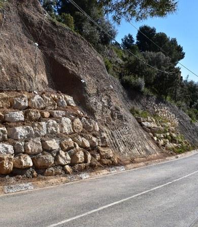 Finalitzen les obres d'emergència a la carretera de Sant Llorenç