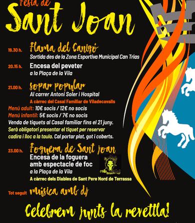 Informació per participar a la celebració de Sant Joan de Viladecavalls