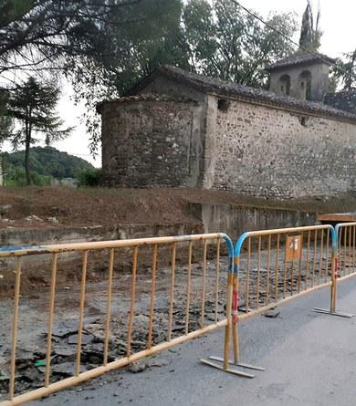 Iniciats els treballs de pacificació de l'entorn de l'ermita de Sant Miquel de Toudell