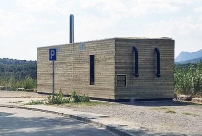Exterior mòdul caldera biomassa