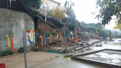 Esfondrament mur pati Rosella