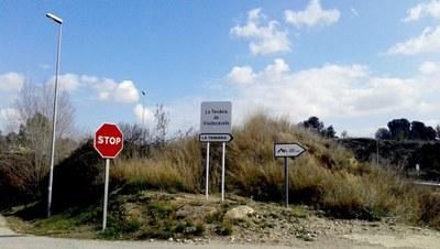Senyalització accés La Tendera