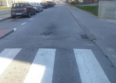 Enfonsament al paviment (Avinguda Barcelona)