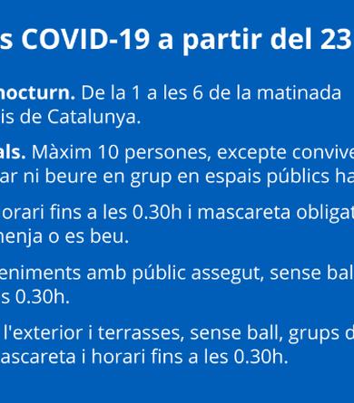 Prorrogades les noves mesures COVID-19