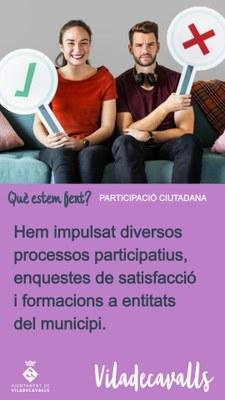 Què estem fent per la participació ciutadana?
