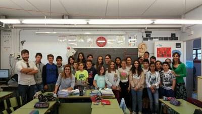 Fotografia de grup dels alumnes de 6è B