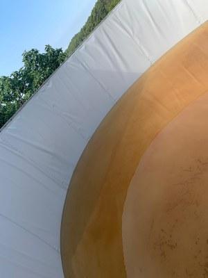 Detall arranjament diposit d'aigua Can Margarit