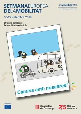 Cartell de la Setmana Europea de la Mobilitat 2019